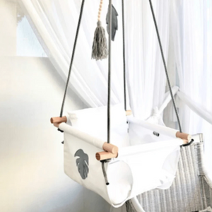 Cotton Canvas Swing with Rope Handles - Razberry Kids Co