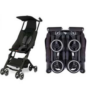 GB Pocket Plus Stroller - Black - Razberry Kids Co