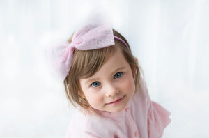 Girls Tulle Bow on Alice Band - Razberry Kids Co - Girls head band