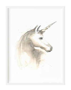 Unicorn Print + white frame - Razberry Kids Co