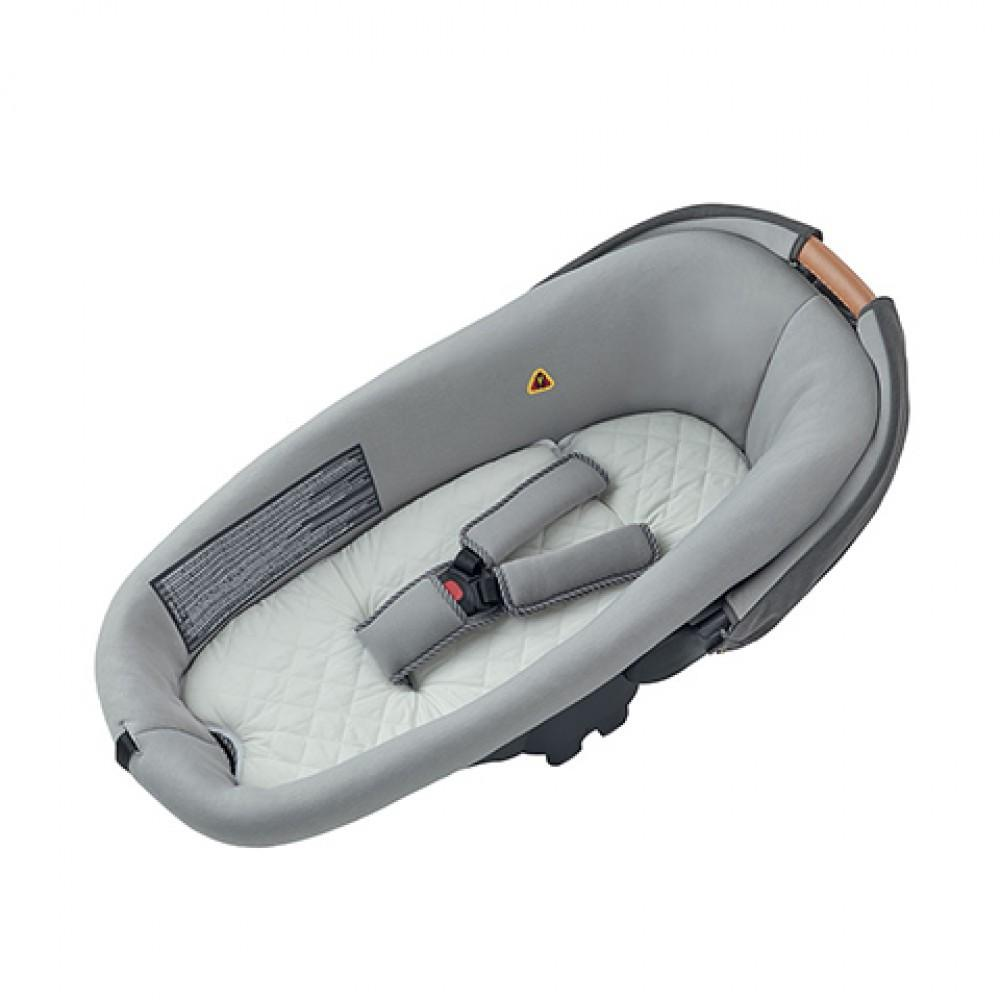 Compact Safety Carrycot Black/ Grey / Sparkling Grey - Razberry Kids Co