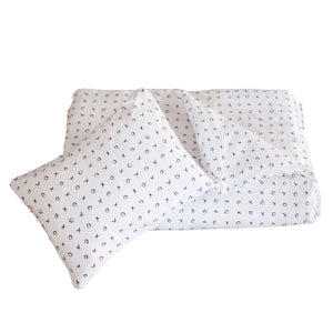 Duvet & Pillow Case Black XOXO print - Razberry Kids Co