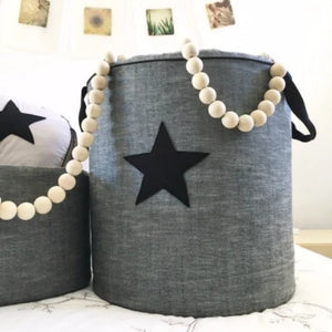 Custom Toy Barrel with Star Applique - Razberry Kids Co