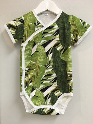 Wrap Onesie - Big Green Leaf