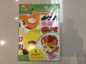 Melissa & Doug Simply crafty Safari Masks - Razberry Kids Co