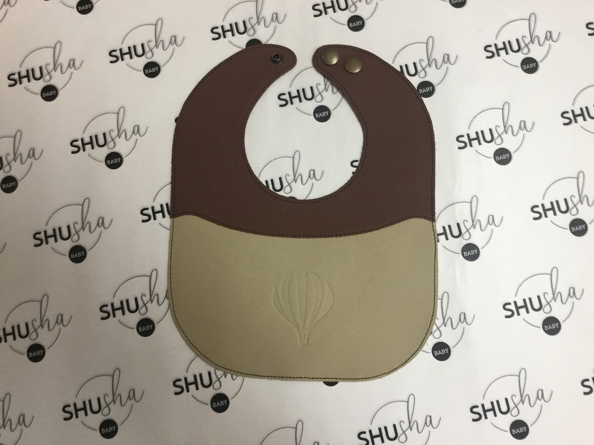 Shusha 2 Tone Leather soft bibs with gift box