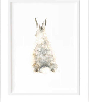 Bunny print back view  - framed or unframed - Razberry Kids Co