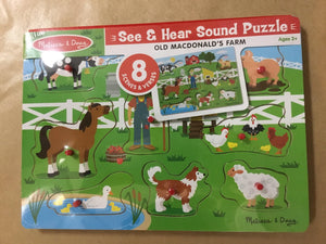 Melissa & Doug Sound Puzzle old Mac Donald 738 - Razberry Kids Co