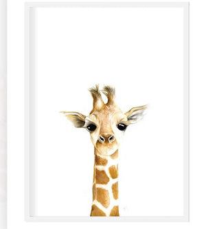 Giraffe print - framed or unframed - Razberry Kids Co