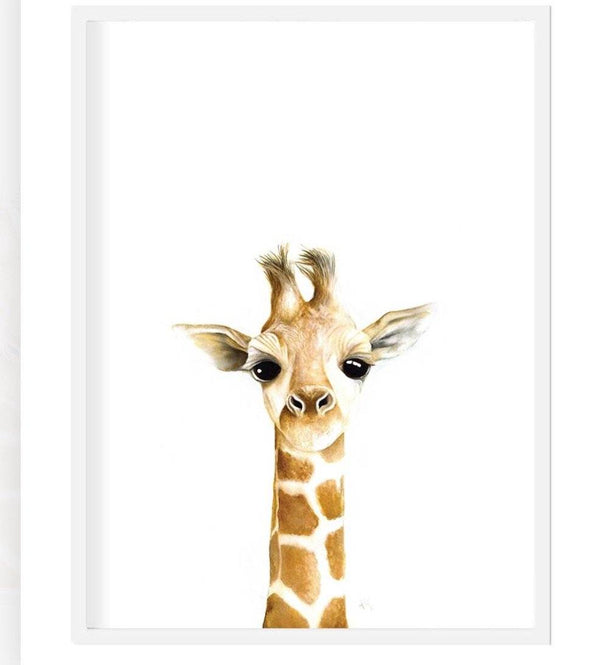 Giraffe print - framed or unframed Picture simply child