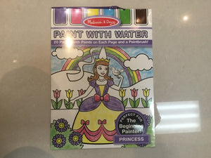 Paint with water - Princess 20 pg - Razberry Kids Co