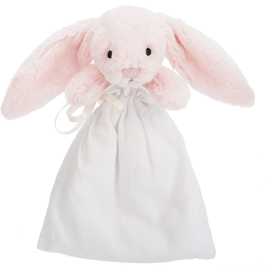 Bashful Bunny MUSLIN soother PINK - Razberry Kids Co