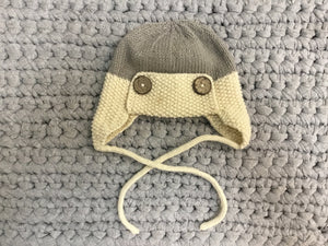 Aviator beanie with buttons + string - Razberry Kids Co