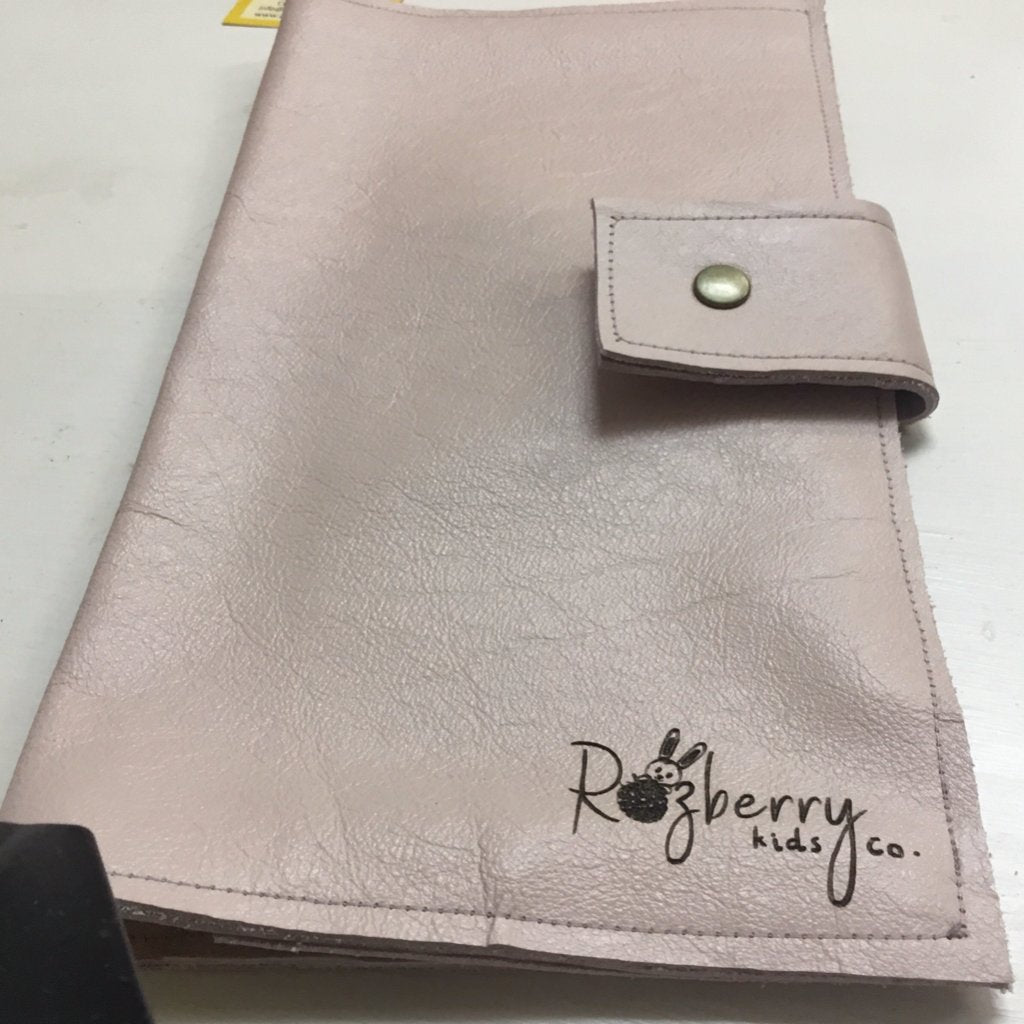 Leather nappy wallet - Razberry Kids Co