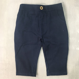 Navy Cotton Chino Pant - Razberry Kids Co