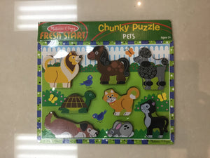 Melissa & Doug Chunky Puzzle PETS - Razberry Kids Co