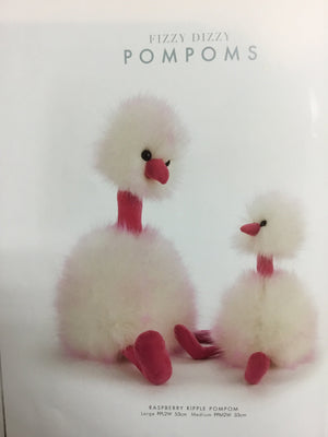 Raspberry ripple pompom birds - Razberry Kids Co