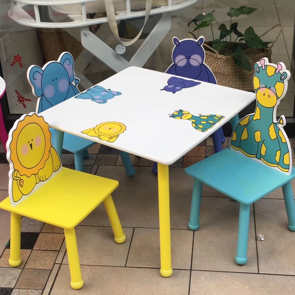 Animal Character table and chairs - Razberry Kids Co