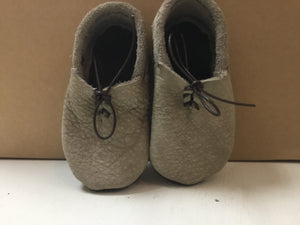 Leather Boys Veilles - Stone - Razberry Kids Co - Baby Leather Shoes - Stone