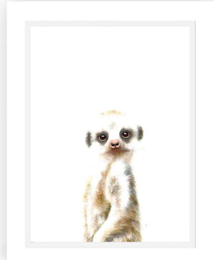 Meerkat  print - framed or unframed - Razberry Kids Co