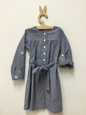 Pindot soft Denim Dress - Razberry Kids Co