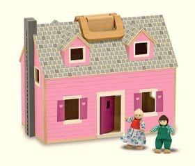 Fold and go wooden doll house - Razberry Kids Co
