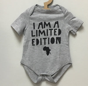 "Onesie - S/Sleeve Grey ""Limited Edition Print""- Baba Fishees - Razberry Kids Co"
