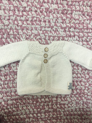 Chunky 3-button yoke cardi - Razberry Kids Co