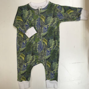 Baba Fishees Romper - Tropical Green Leaf - Baby Romper