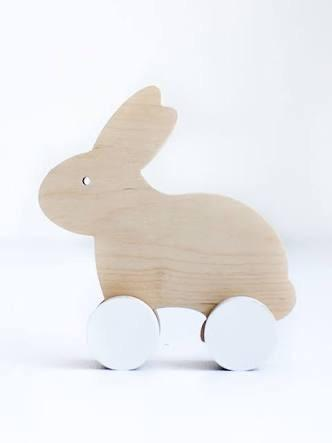 Wooden Push Toy - Rabbit Toys simply child