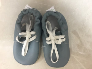 Blue leather summer Vellie - Razberry Kids Co