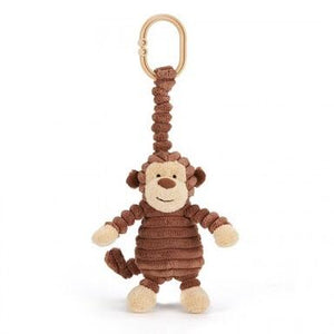 Baby corduroy jittering monkey - Razberry Kids Co