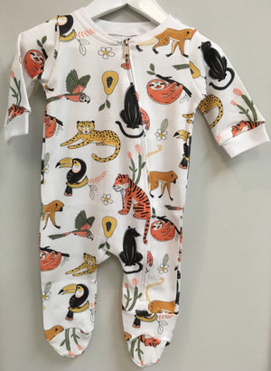 Baba Fishees Romper - Jungle Friends