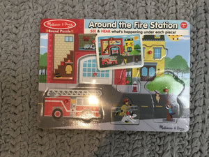 Melissa & Doug Around the fire station Sound Puzzle - Razberry Kids Co
