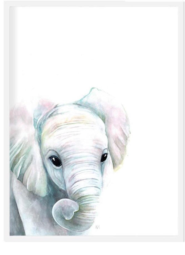 Elephant print - framed or unframed Picture simply child
