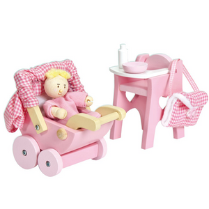 Nursery Set With Baby Doll - Razberry Kids Co