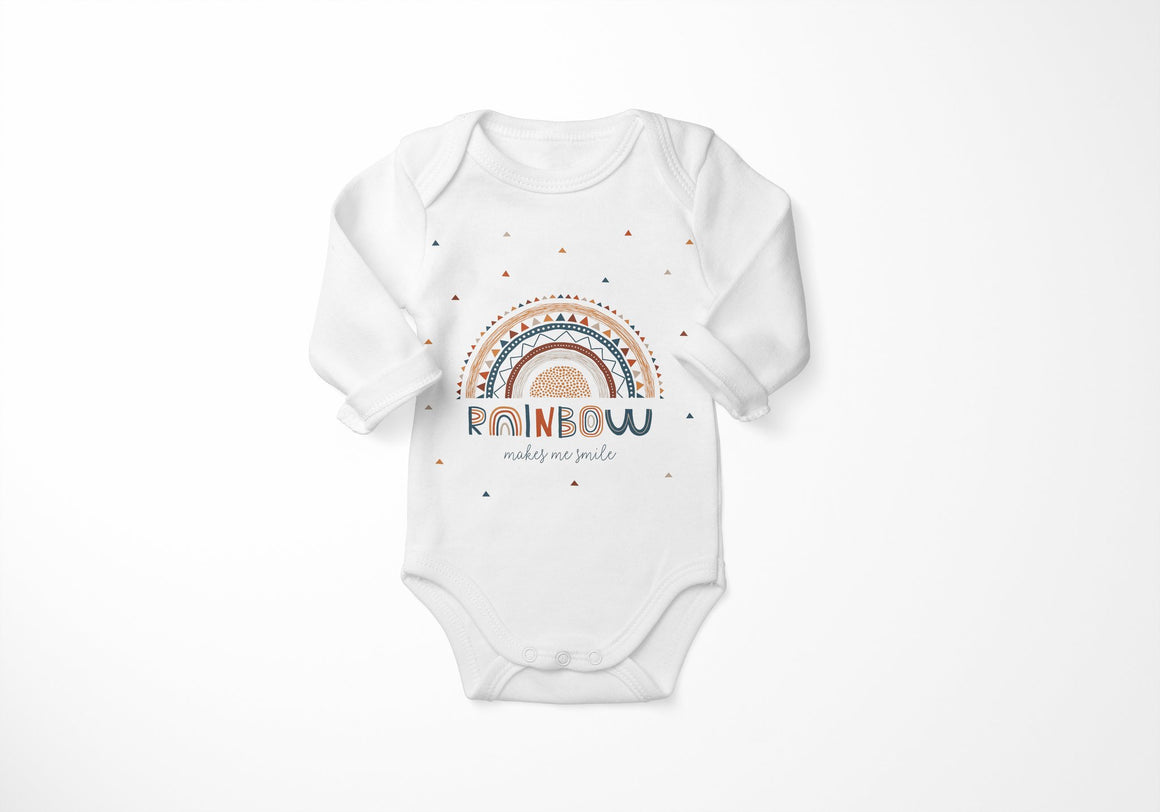 Baba Fishees Onesie - Rainbows - Short Sleeve