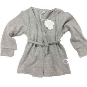 GREY KNIT TIE-FRONT BALLERINA CARDI - Razberry Kids Co
