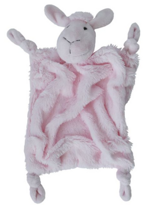 Plush sheep comfort blankie