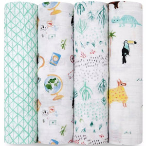 4 Pack Muslin Swaddle - Aidan & Anais - Razberry Kids Co