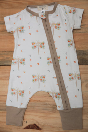 Short Sleeved Zip Onesies --- Dragonflies