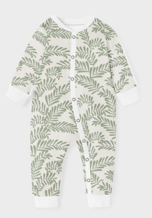 Baba Fishees - Baby Romper - Whispy Green Leaf - Baby Romper