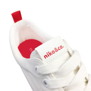 niko&co. red tab canvas sneakers