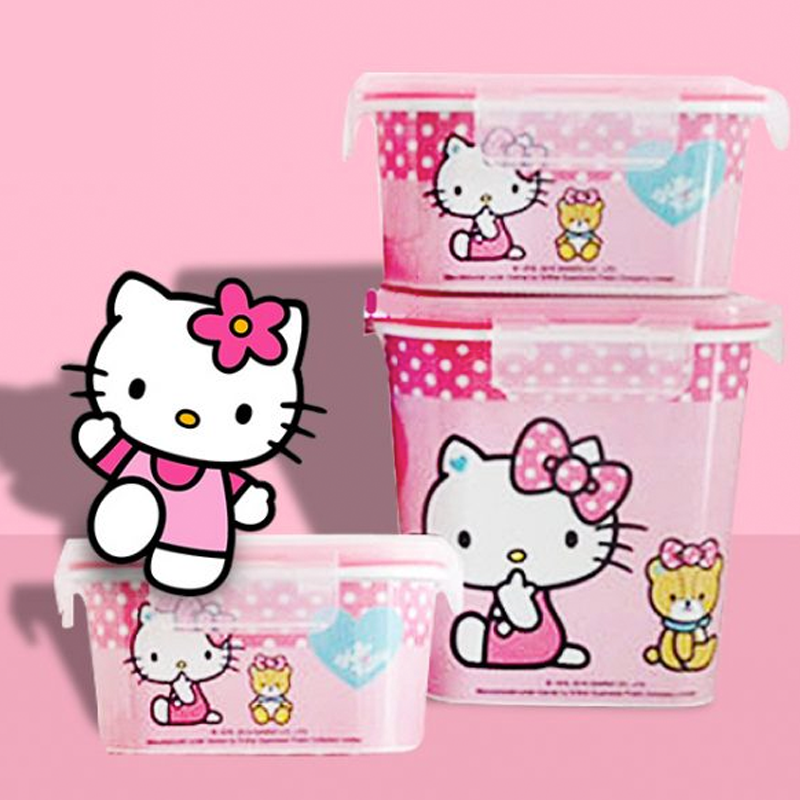 Hello Kitty Fresh Storage Containers 3pcs