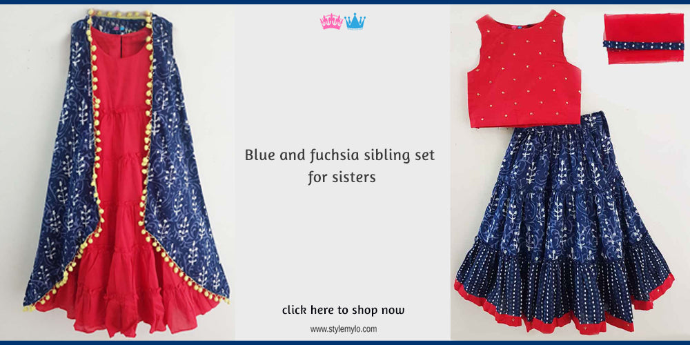 Sibling Dresses | Matching Indian Dresses for Brother Sister