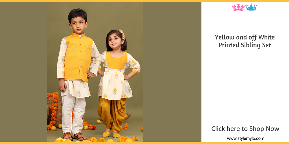 Sibling Dresses | Brother Sister Matching Indian Dresses for Kids