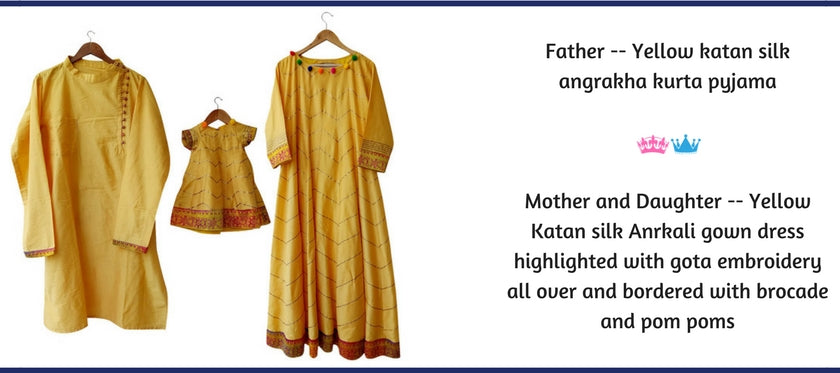 Family Collection, Mother Father Kids Coordinated Dresses