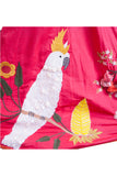 Tomato Red Cockatoo Lehenga