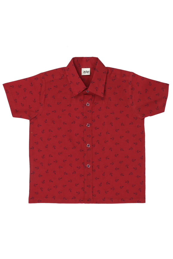 Anchor Printed Cotton Shirt