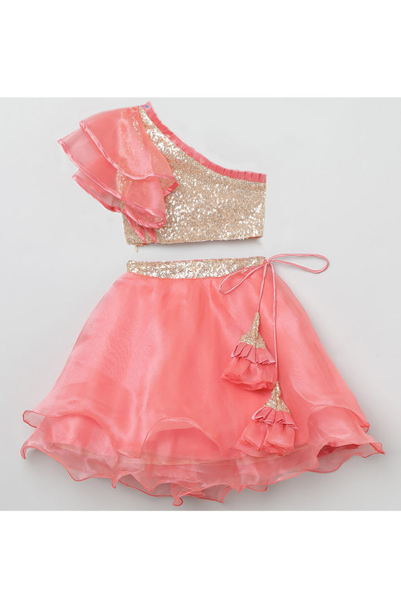 Organza blush pink choli lehenga set! Get the Best Designer Lehenga Sets for Baby Girls, Designer Choli Ghagra Sets for Baby Girls, Designer Lehenga Choli Sets for Girls, Designer Lehenga Choli for kids, Lehenga for Girls, Ghagra for Girls, Ethnic wear for Girls, Indian Wear for Girls, Designer Ghagra for Kids